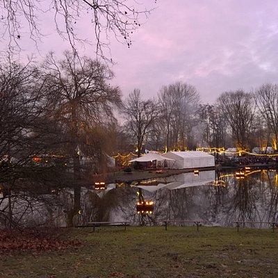 lichterweihnachtsmarkt im Park