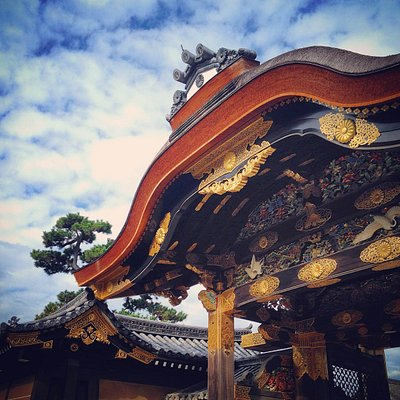 Golden Karamon Gate at Nijo Castle, Kyoto