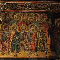 Panagia Chryseleoussa, Judgement of Righteous fresco