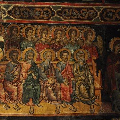 Panagia Chryseleoussa, Judgement of Righteous fresco