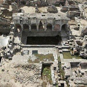 Veduta area complesso termale di Forum Traiani