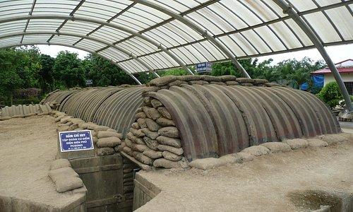 The exterior of de Castries' bunker.