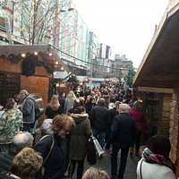 The Glasgow Christmas Market on opening days. Before the craze and rush before Christmas-Eve, th