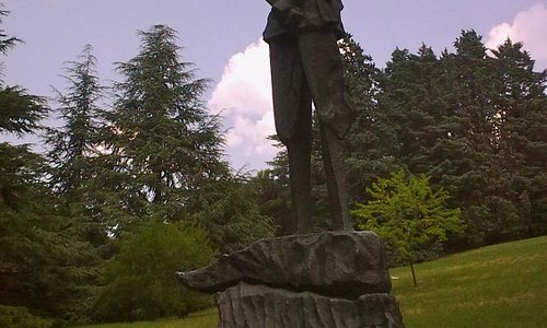 In Miramare park - monument to the Duke of Aosta