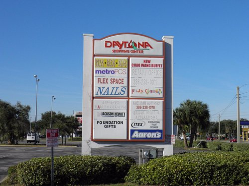 Entrance Sign to Daytona Shopping Center (formerly Daytona Mall)