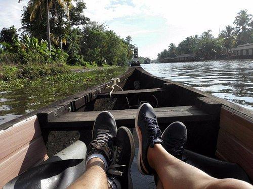Alleppey backwater in a Canoe