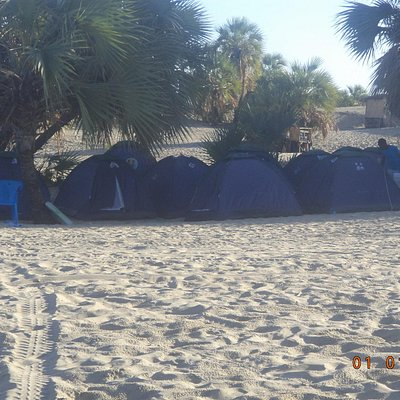 Tents in the sand