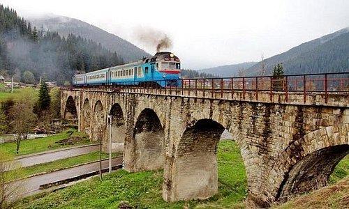 Первый мост-виадук на въезде в Ворохту