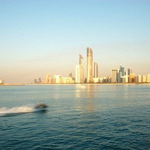 Abu Dhabi View from Ocean