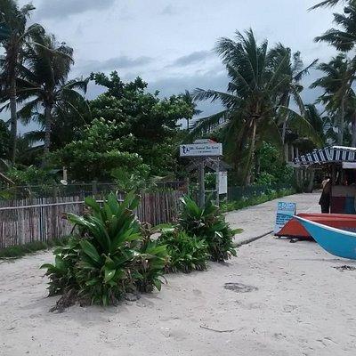 Entrada na frente da praia