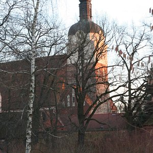 St. Gotthardt vom Rathenau-Platz aus
