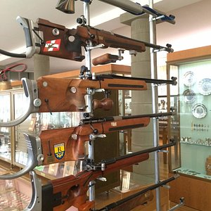 Target shooting rifles, such as used in competition