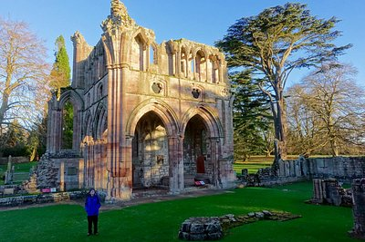 North transept where Sir Walter Scott is buried.