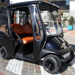 One of the electric powered cars used for rental