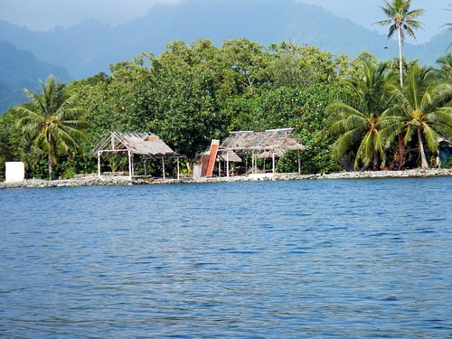Artificial island locals lived on during the Japanese Occupation.