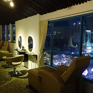 Enjoy a city view during your treatment.