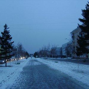 Аллея в центре проспекта Ленина.