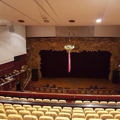 Empty theater taken from second floor