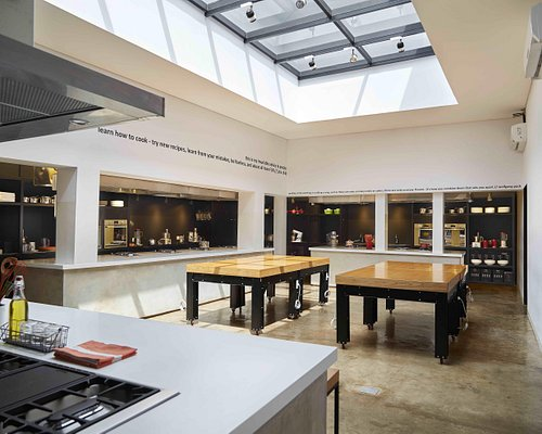 Expansive and modern kitchen equipped with high quality tools and appliances from our partners,