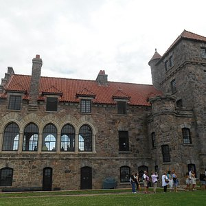 Singer Castle on the St. Lawrence River by shuttle, call us.