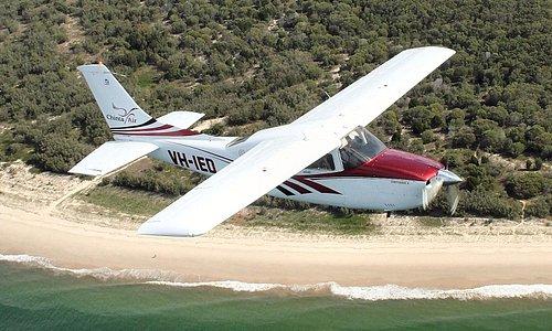 Scenic flights over the beach