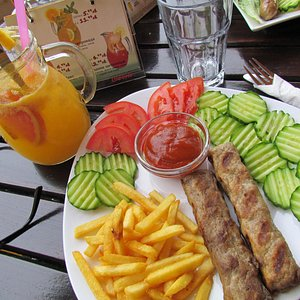 my meal with local fruit drink YUM!