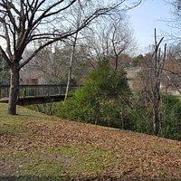 Bridge at southwest corner of park
