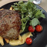 Beef Steak with Fries/Chips and Salad