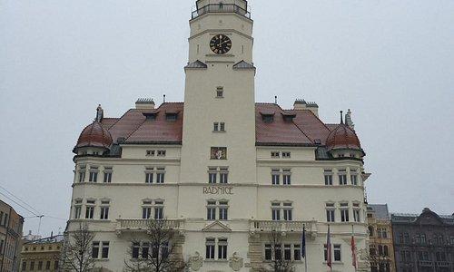Vista frontal da torre