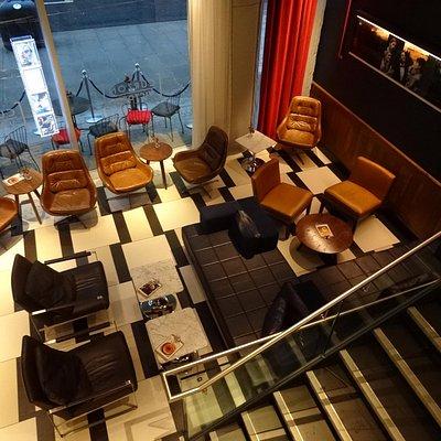 Street level - seating area