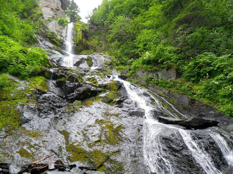 This is a waterfall I saw while near Seward