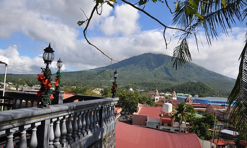 View from the Top showing Mt. Iriga and part of the Iriga town proper.