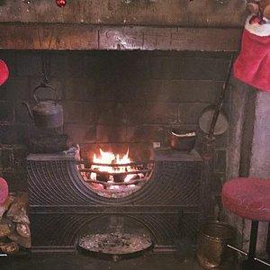 Beautiful open fire