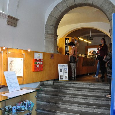 Inside view of tourist info office.