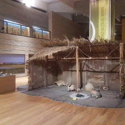 Due viste del museo della preistoria