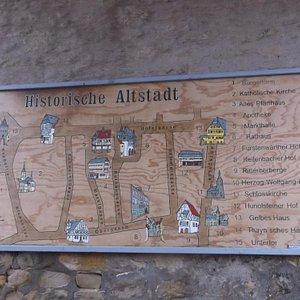 Historischer Altstadt - Plan.