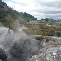 another area that has several steaming vents