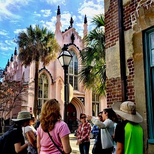 History Tour with French Huguenot Church in the background