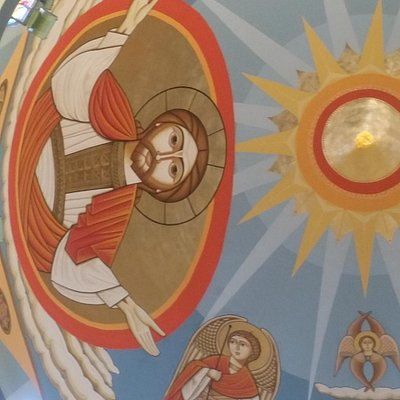 From the dome of the Archangel Michael Coptic Cathedral in Aswan