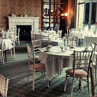 our tea room in the salon at wollaton hall