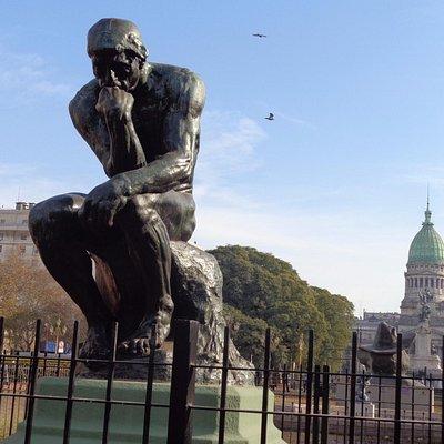 El Pensador de A. Rodin
