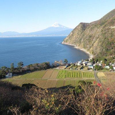 井田の文字と富士山