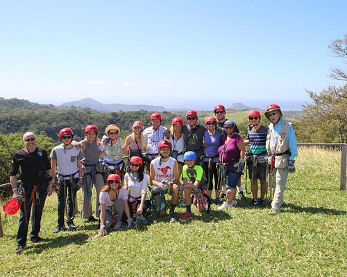 All 17 of our family during the zip line activity