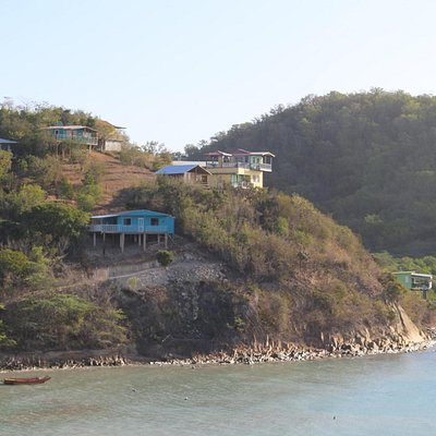 view of costal houses on stilts