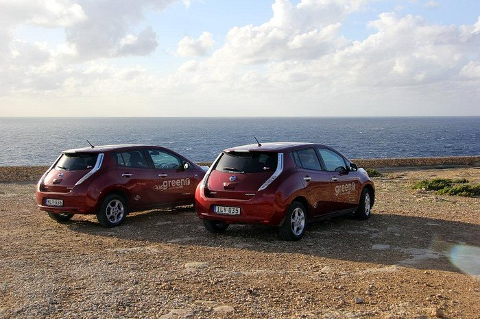 Cars with sea view