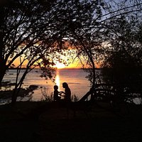 Por do Sol na ponta da ilha