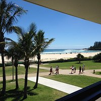 Beautiful beach views from the restaurant