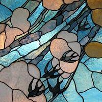Casina delle Civette, particolare di una vetrata