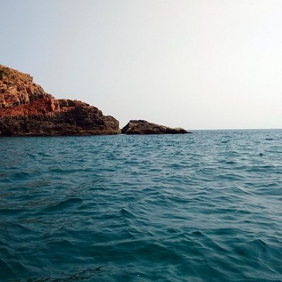 The location, Grande Island. 25 Kms from the coast of Goa.