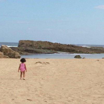 Lindisima! Una playa tranquila, sin mucha gente.